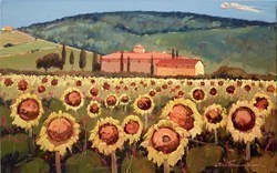 Mattinata di Sole I (RR) by Bruno Tinucci -  sized 31x20 inches. Available from Whitewall Galleries
